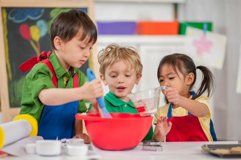 Children Baking at School
