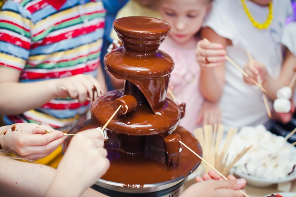 Vibrant Picture of Chocolate Fountain Fontain on childen kids bi